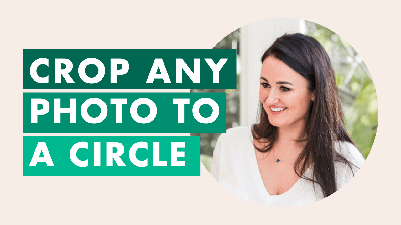 How to Crop a Photo into a Circle on Canva for your Website