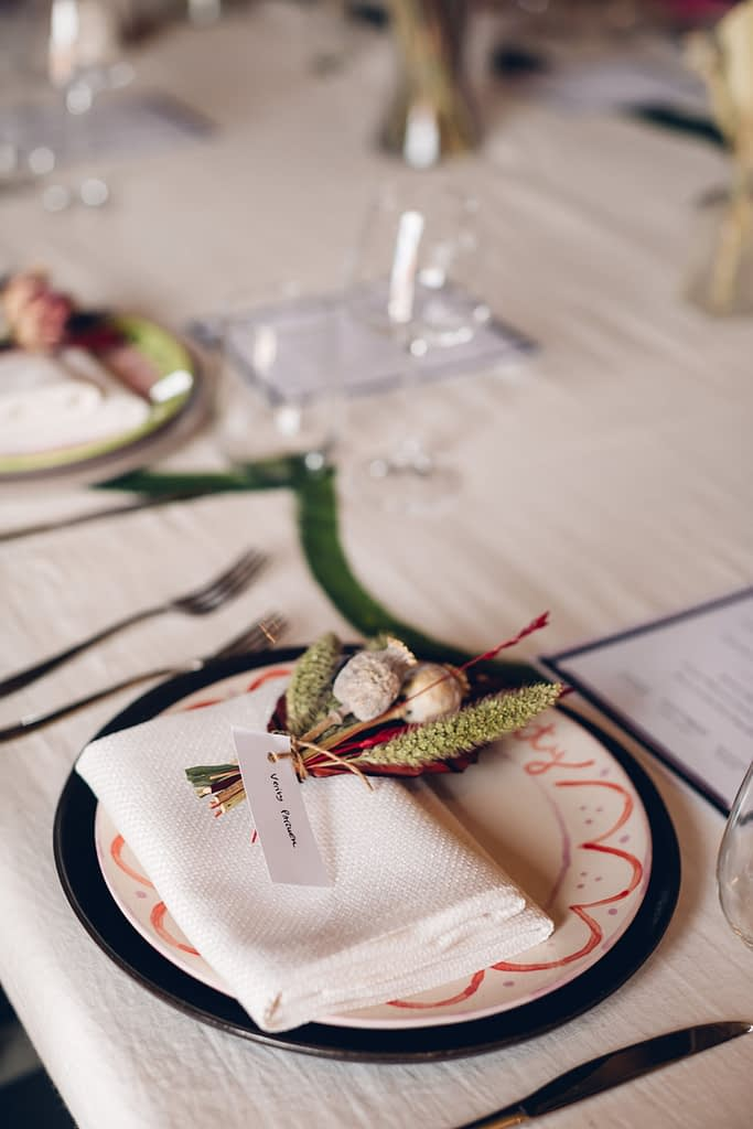 Table Decoration with Foliage