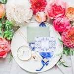 Greek Themed Crockery at Wedding Photoshoot