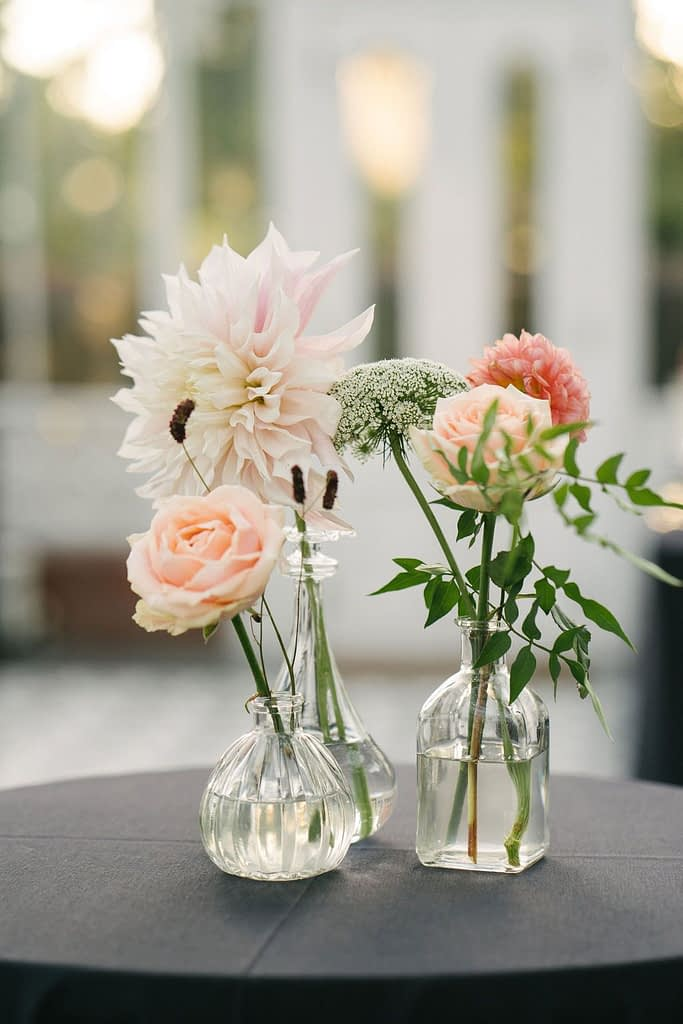 Orange Blush Wedding Table Centrepiece