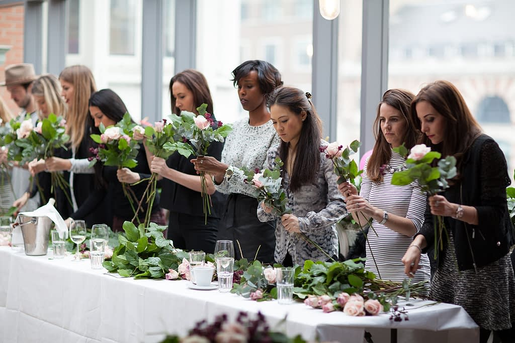 Masterclass Students Arranging Flowers London