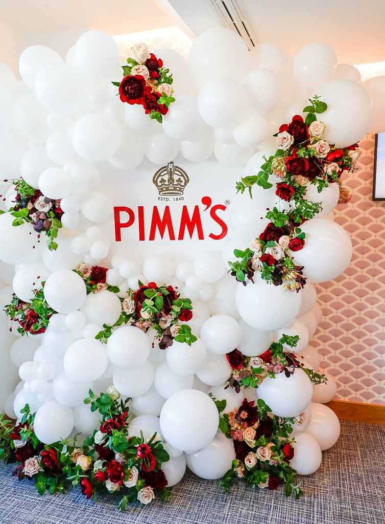Pimms Event Decorations Red Pink Roses