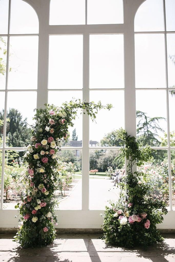 Flower Arch Wedding London Holland Park Venue