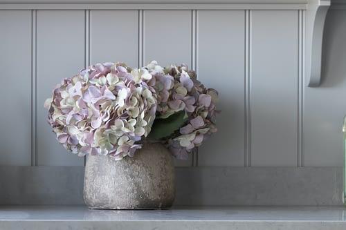 Faux lilac hydrangea