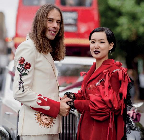 Alchemy Themed Wedding Bride and Groom