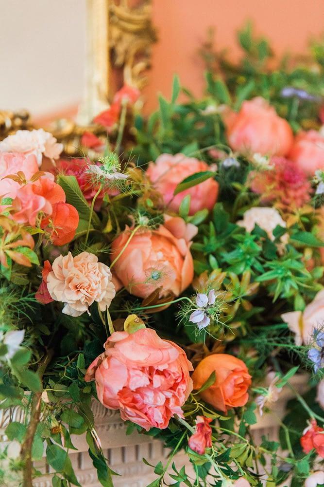 Peach and Orange Summer Wedding Flowers
