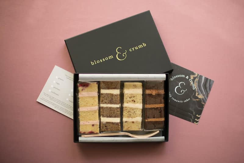 Blossom and Crumb cake sample box